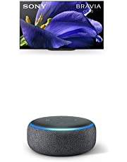 $3798 » Sony XBR-65A9G 65 Inch TV: Master Series BRAVIA OLED 4K Ultra HD Smart TV with HDR and Alexa Compatibility - 2019 Modeland Echo Dot (3rd Gen) - Smart Speaker with Alexa - Charcoal