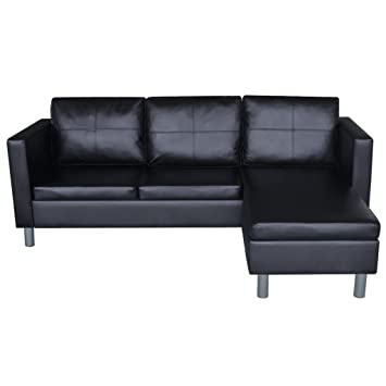 Amazon Anself 3 Seater Bonded Leather Sectional Sofa L shaped