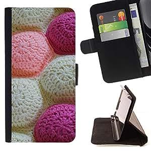 Momo Phone Case / Flip Funda de Cuero Case Cover - Knitting Pattern Artesanías Arte Blanca - Sony Xperia Z2 D6502