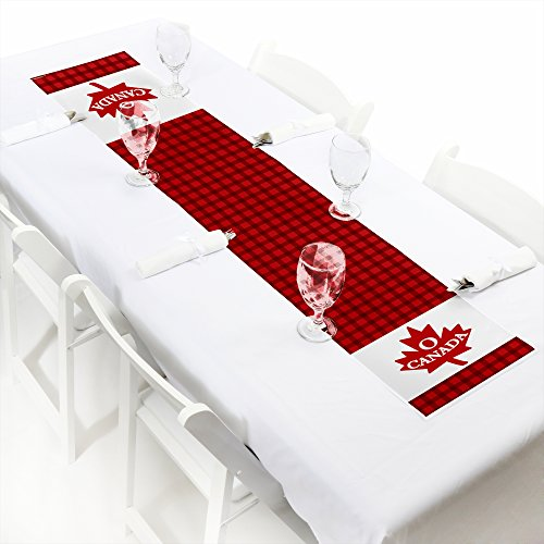 Canada Day - Petite Canadian Party Paper Table Runner - 12'' x 60'' by Big Dot of Happiness