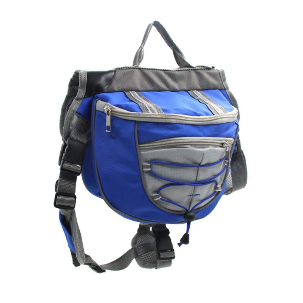 Pet Adjustable Tripper Hound Bag Dog Saddlebags Pack Travel Camping Hiking Backpack Saddle Bag for Dogs (M, Green)