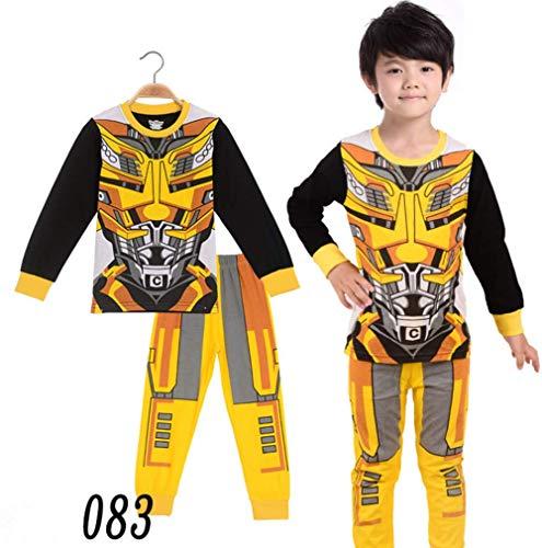 (Boys Pajamas Sets Transformers Children Christmas Pants 100% Cotton Spider-Man Long Kids Snug Fit Pjs Winter Toddler Sleepwear (083,)