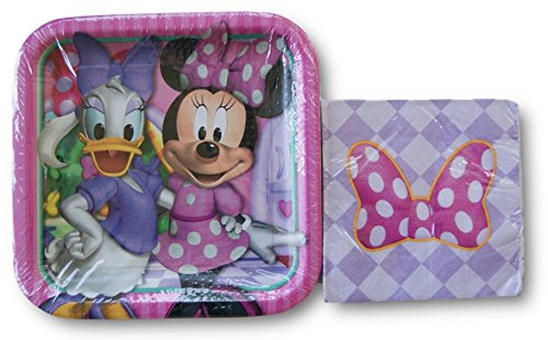 Minnie Mouse Boutique Party Supply Kit - Napkins and Plates (Daisy Duck Birthday Supplies)