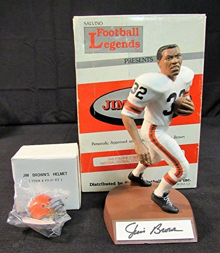 Jim Brown Signed Auto Autograph 1990 Salvino Football Legends Figurine w/Helmet - Autographed NFL Figurines ()