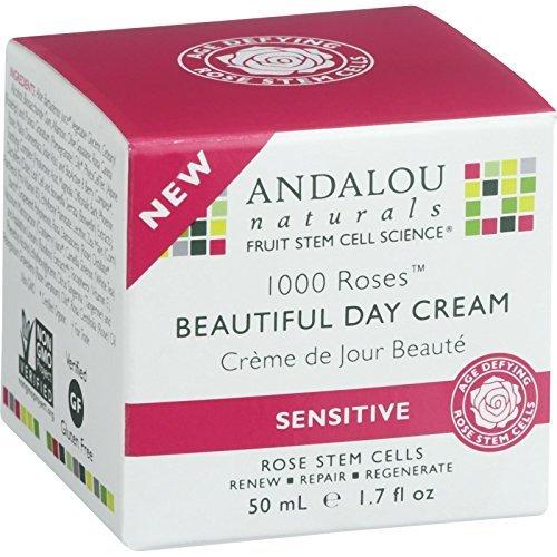 Andalou Naturals 1000 Roses Beautiful Day Cream, 1.7 Ounce,
