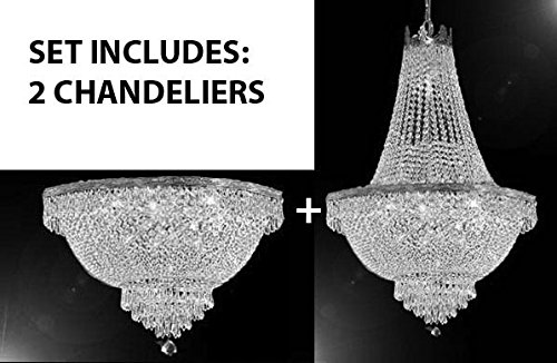 Basket Semi Flush - SET OF 2 - French Empire Crystal Chandelier Chandeliers Lighting H30