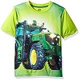 John Deere Big Boys' Large Tractor Tee, Lime Green, 5