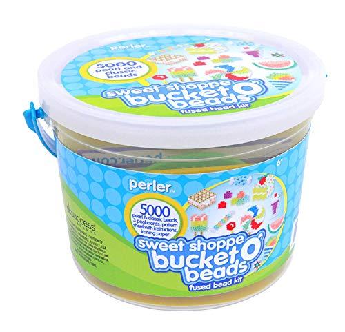 - Perler Beads Sweet Shoppe Fuse Bead Bucket Craft Activity Kit, 5005 pcs