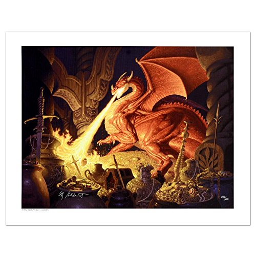 """Smaug"" Limited Edition Giclee on Canvas by The Brothers Hildebrandt! Numbered and Hand Signed by Greg Hildebrandt! Includes Certificate of Authenticity!"