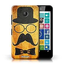 STUFF4 Phone Case / Cover for Nokia Lumia 635 / Handlebar/Glasses Design / Retro Moustache Collection