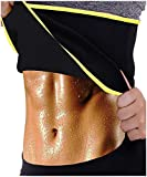 LODAY Women Slimming Body Shaper Weight Loss Sweat Belt Neoprene Sauna Waist Trainer Corset Trimmer Sport Workout Fitness (Black(Gym Tummy wrap), M (US 8-10))