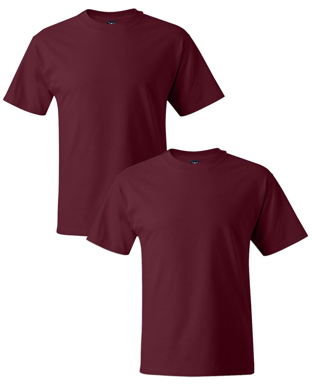 Hanes Men's Short Sleeve Beefy-T, Cardinal, XX-Large (Pack of 2) by Hanes