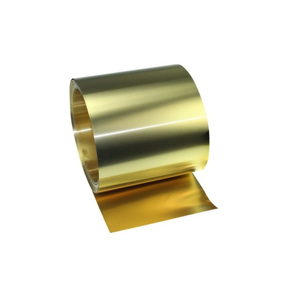 YILI Brass Sheet Metal Thin Belt Roll Foil 0.03x100x1000mm YILI-16 H62