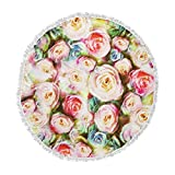 KESS InHouse Dawid Roc Pastel Rose Romantic Gifts Green Photography Round Beach Towel Blanket