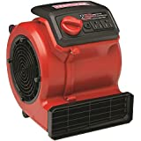Craftsman | Best Floor Fan Air Blower for Drying Flat Surfaces | 3 Speed Portable Air Mover | Indoor Outdoor | Guaranteed | Carpet | Tile | Cement | Top Rated - #1 Seller | Home Improvement