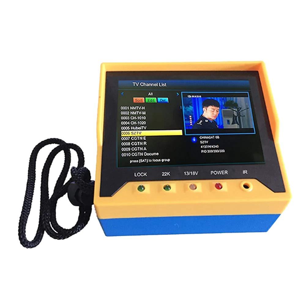 SODIAL Kpt-356H 3.5 Handheld Multifunctional Dvb-S/S2 Satellite Finder Fast Tracking Full Hd Digital Satellite Tv Receiver Finder Meter Mpeg4 Modulator with Remote Control(Us Plug)
