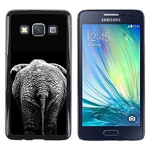 TopCaseStore / la caja del caucho duro de la cubierta de protección de la piel - Black Minimalist Africa Grey - Samsung Galaxy A3 SM-A300