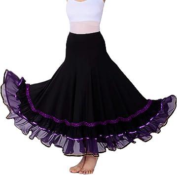 JTSYUXN Flamenco Baile De Salón De La Falda De Danza del Vientre ...