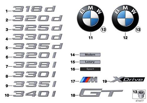 BMW Genuine Lettering Badge Emblem 3 Series F34 GT 318d 320d 320dX 51147351971