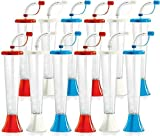 Red White and Blue! Yard Cups Kids Party 12-Pack - for Cold Drinks, Frozen Drinks, Kids Parties - 9 oz. (250 ml) - set of 12 Yard Cups in assorted colors - BPA Free and Crack Resistant