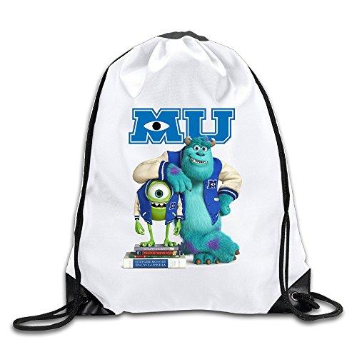 Monster University Men's Women's Shoulder Drawstring Bag Backpack String Bags School Rucksack Gym Handbag