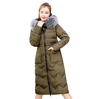 e20e4739fac431 ☺Wintermantel Daunenjacke Damen Übergangs Jacke Premium Outwear Frauen  Daunenmantel mit Kapuze Pelzkragen Blumendruck Steppjacke Leichte Mantel ...