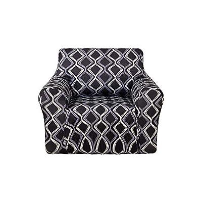 Deconovo Trellis Print Sofa Slipcover Spandex Stretch Strapless Sofa Cover for Couch