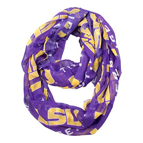 - NCAA LSU Tigers  Sheer Infinity Scarf