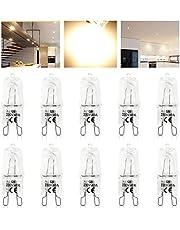 KINGSO 10 pack Lampadina a Filamento G9 40W Lampada Alogena da Globo 220-240 V Bianco Caldo