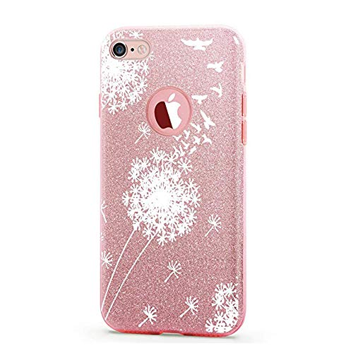 vanki Case Compatible with iPhone 7 Case Thin TPU 3 Layer Hybrid PC Glitter Shock Protective -