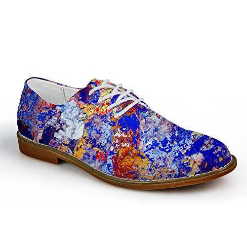 Klemmer Idé Pledd Mens Fashion Oxford Kjole Sko Graffiti 5