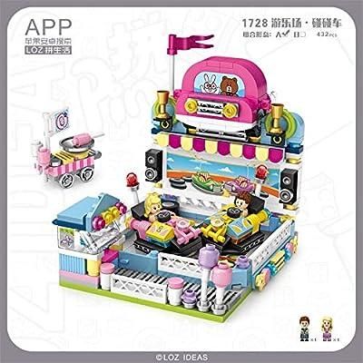 LOZ Bumper Car Dodgem Mini Micro Building Blocks NO.1728 Compatible Nano Chistmas Bithday Gifts for Kids DIY Figures Assemble Educational Toys Model Kits: Toys & Games
