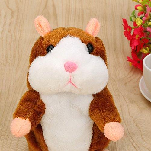 Ketteb Toy Kids Shop Adorable Interesting Speak Talking Record Hamster Mouse Plush Kids Toys