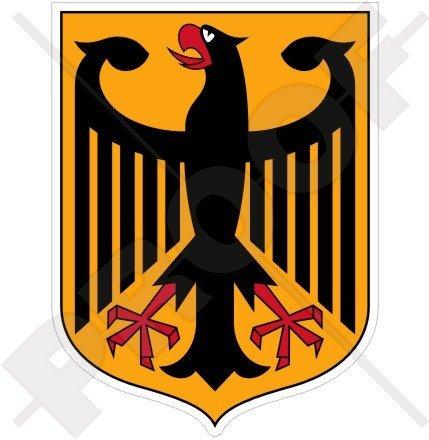 Deutschland Coat (GERMANY German Coat of Arms Badge Crest DEUTSCHLAND 100mm (4