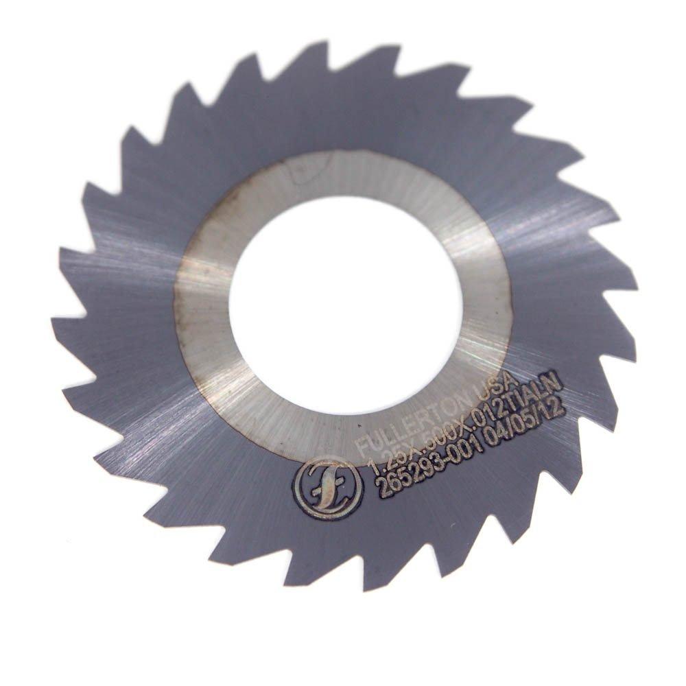 Fullerton Carbide Saw 1.25'' x 0.50'' x 0.12'' 24 Teeth TiAlN 265293-001 (2 Pack)