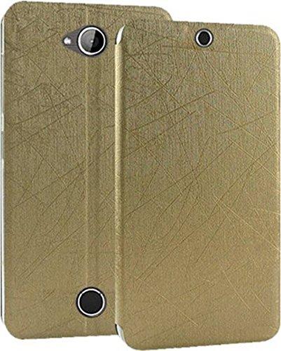 wholesale dealer 1ca9f fde86 Aspir Flip Cover For Acer Liquid Z530 - GOLD