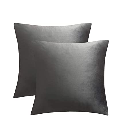 Super Juspurbet Velvet Pillow Covers 26X26 Inches Pack Of 2 Throw Pillow Covers For Sofa Couch Bed Decorative Super Soft Throw Pillows Cases Grey Inzonedesignstudio Interior Chair Design Inzonedesignstudiocom