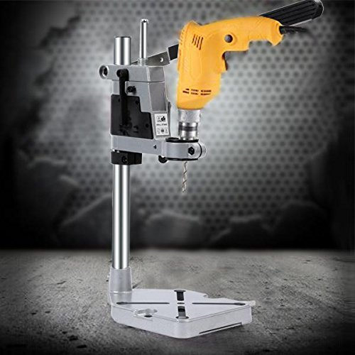 Drill Press Stand, Aluminum Cordless Multifunction Rotary Tool Drill Press Support Stand for Drill Workbench Repair