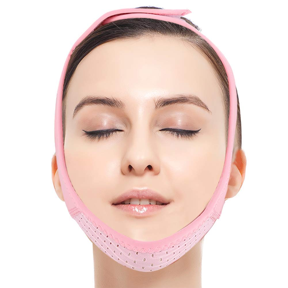 Facial Strap, Facial Slimming Firming Band, Double Chin Reducer Face Lifting Belt Cheek V Shape Lift Up Thin Strap Neck Compression Double Chin Lift up Belt Lady Cheek Slim Strap Mask Beauty Tool