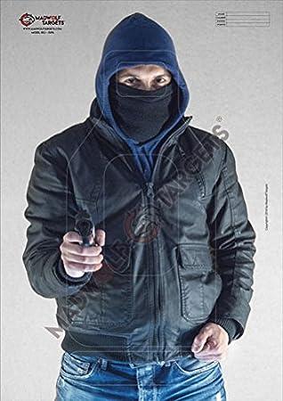 Pack 20 siluetas Madwolf Targets Silueta realista para tiro t/áctico Terrorista 84,1 x 59,4 cm