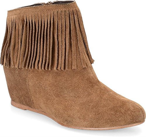 Comfortiva Riverton Round Toe Suede Ankle Boot, Brown, Size 6.0