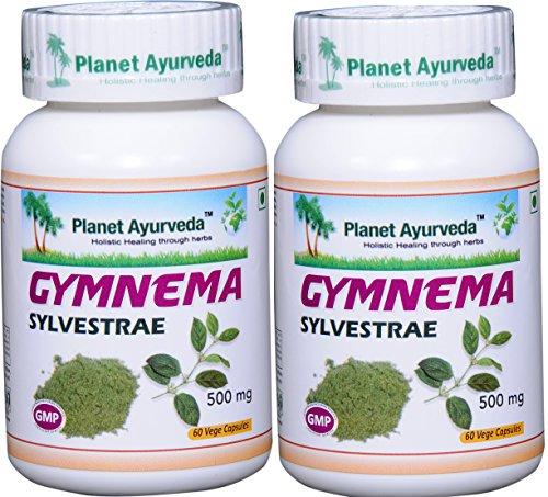Planet Ayurveda Gymnema Sylvestrae, 500mg Veg Capsules - 2 Bottles