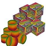 12 Pieces Multi Colorful Kids Party Favor Jumbo 3'' Rainbow Coil Magic Spring Fun Slinky-Dozen-Bonus!Race Day Car