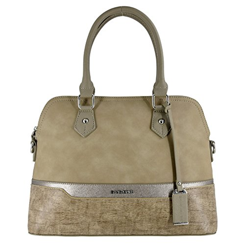 Shoulder Glitter Jones Multicolor Bowling Top Nude Suede Modern Saffiano Classic City Elegant Style Bag Bag Bugatti Bag Handle Lady Faux Women's Satchel Green David Handbag Olive Leather Rigid Pink Pd8q8