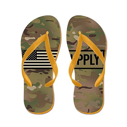 CafePress U.S. Army: Supply (Camo) - Flip Flops, Funny Thong Sandals, Beach Sandals Orange