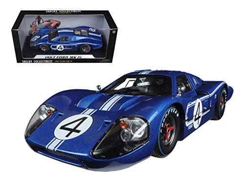 Shelby Collectibles SC426 1967 Ford GT MK IV #4 Blue LeMans 24 Hours L.Ruby / D.Hulme 1/18 Diecast Model Car - Shelby Collectible Vehicle