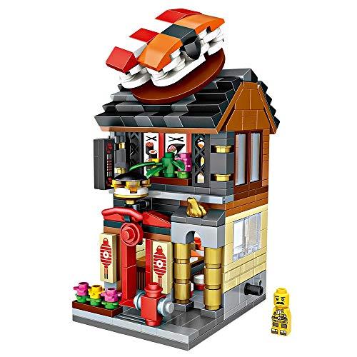LOZ Building Block Sushi Shop Mini Handmade Kit,Construction Toy Birthday Gift Kid Adult(Sushi Shop)