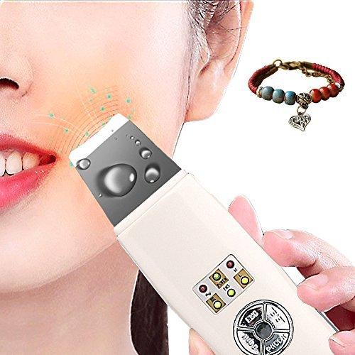 Norjackbeauty Espátula de depurador de la piel Facial ultrasónico portátil multifuncional & infusión exfoliación Facial...