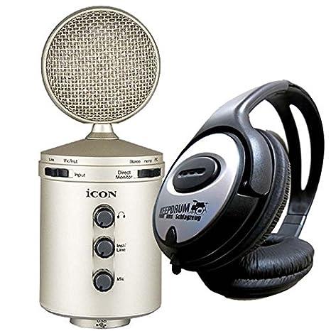 Icon U24 USB - Micrófono de Condensador de Membrana Grande + ...