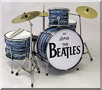 RINGO STARR Beatles Miniature Mini Drum Set Drumset FOR DISPLAY ONLY